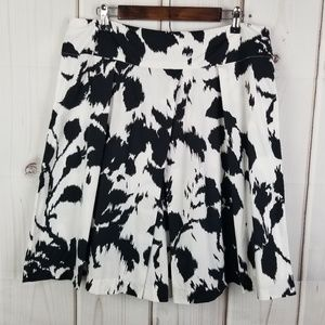 Sandro Black/White A Line Pleated Skirt Size 14